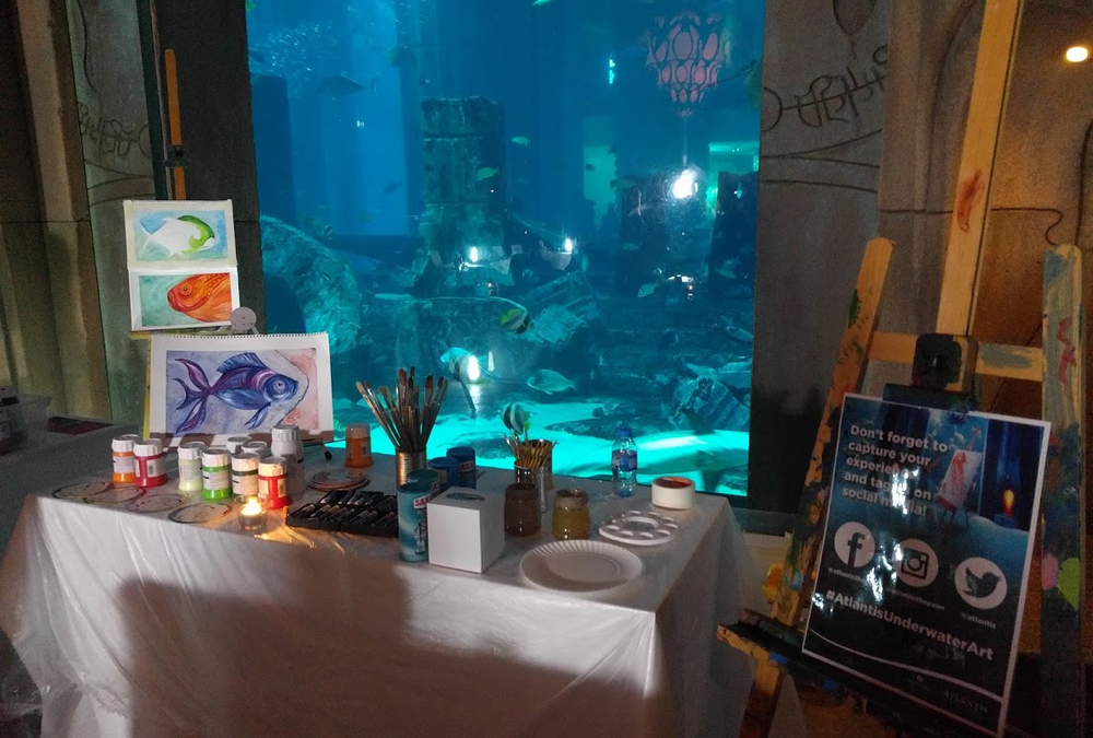 'Art and Grape Under the Sea' at Atlantis, The Palm