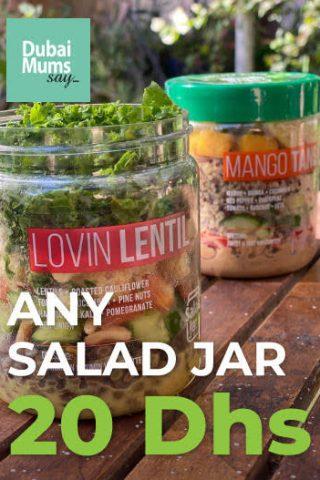 Salad jar, Dubai Mums