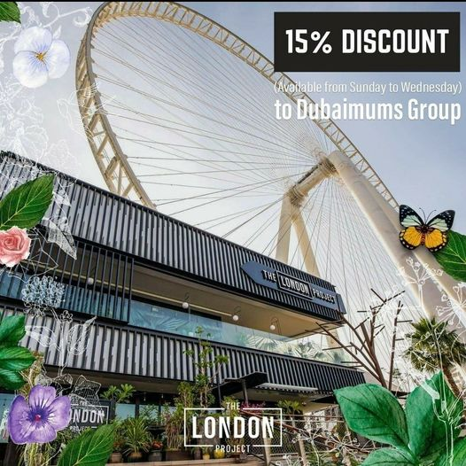 15% off the bill at The London Project, Bluewaters