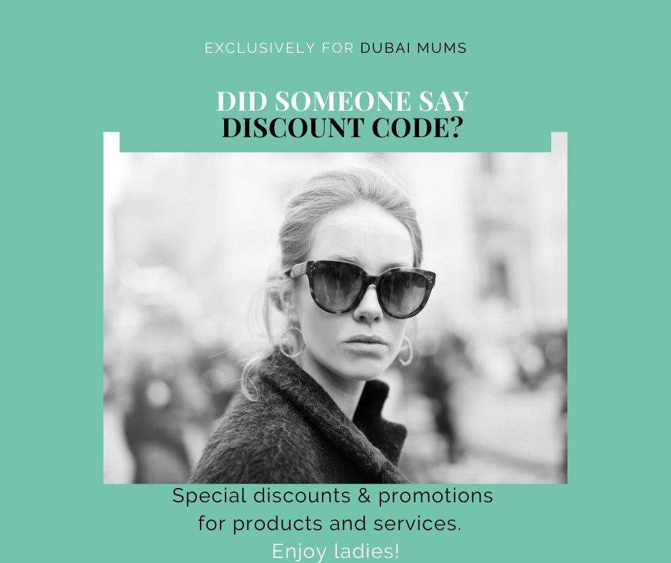 Dubai mums, discount code, mums discount