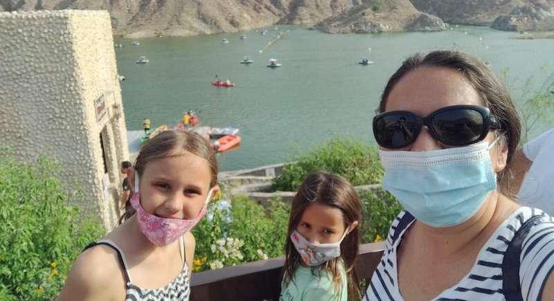 Al Rafisah Dam, Khorfakkan, dubai mums, kids activities, trips, boating
